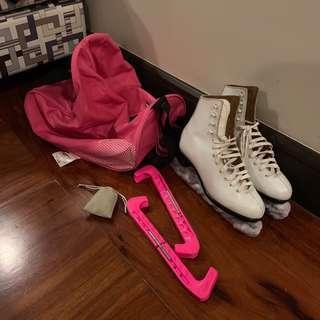 Dominion Ice Skates Complete Set Starter size 6.5-7.5
