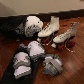 Roller Blades Skates Complete Set size 6.5-7.5
