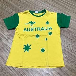 Kaos Australia. LD 86cm. Panjang baju 54cm