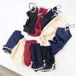 Daisy Silk Pyjams set