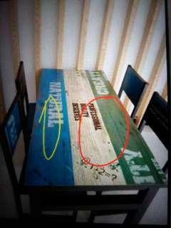 更新: 全新日系家居未拆訂造bar枱書電腦枱辦公書桌飯桌飯檯 100% new desk only 納米樓必備