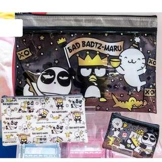Sanrio XO仔 Bad Badtz-maru Zipper Pouch Set (1套3個)