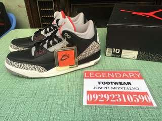 826eeb81e25 Jordan 3 Black Cement size 10 BNDS not nike kyrie kobe kd pg janoski lebron  uptempo