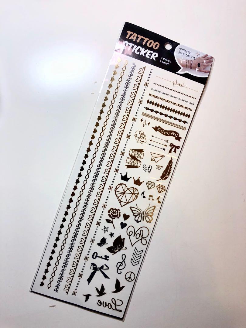[全新韓國製!] 可愛紋身貼紙 tattoo sticker
