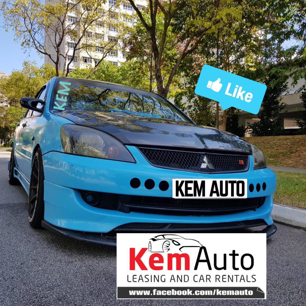 FULL MOD BLUE Mitsubishi LANCER 1.6M CS3 Drift racing / Full Bodykit