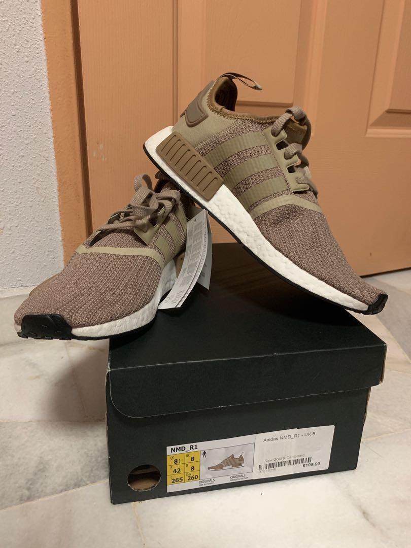 684d55e39 Adidas NMD R1 (Raw Gold   Cardboard)