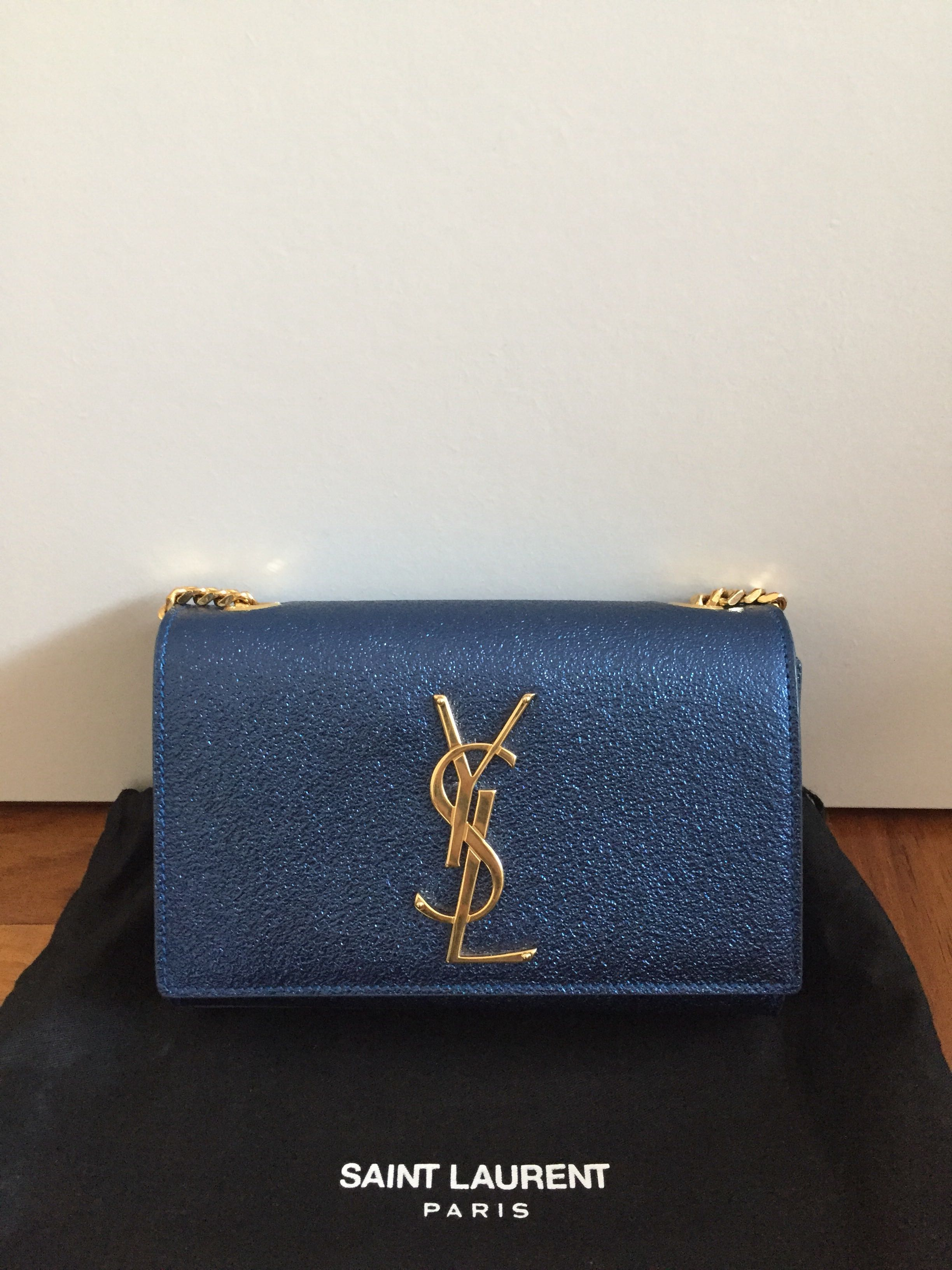 4128c7af6f57 Authentic Saint Laurent YSL kate monogram crossbody chain bag ...