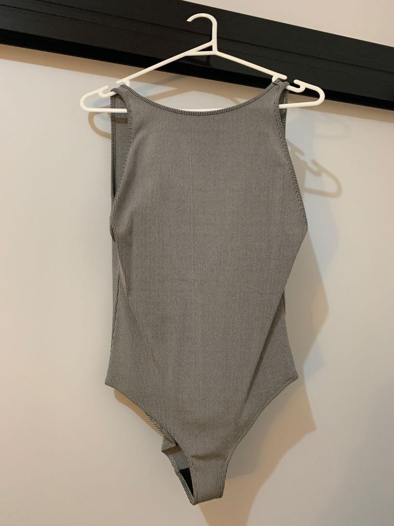 Backless bodysuit (also available in BLACK) (fits 10-14)