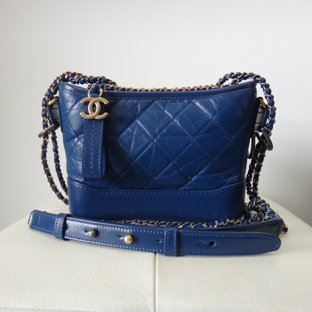 5d6e5376fc2455 BNIB Chanel Small Gabrielle Hobo Navy Blue A91810, Women's Fashion, Bags &  Wallets, Handbags on Carousell