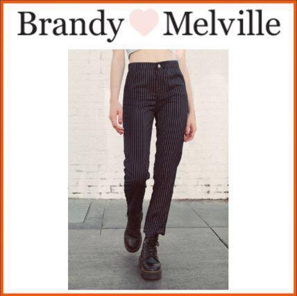5da78f01c8c7 brandy melville pinstriped black tilden pants