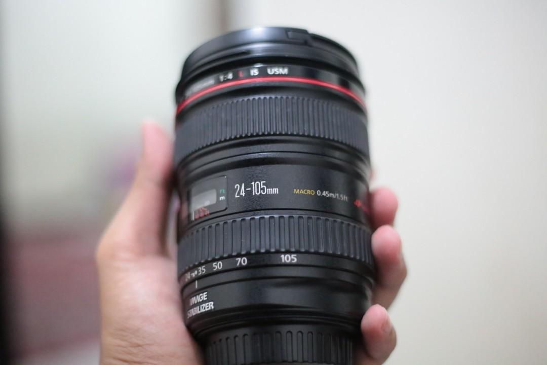 Canon zoomlens 24-105mm f. 4 L series