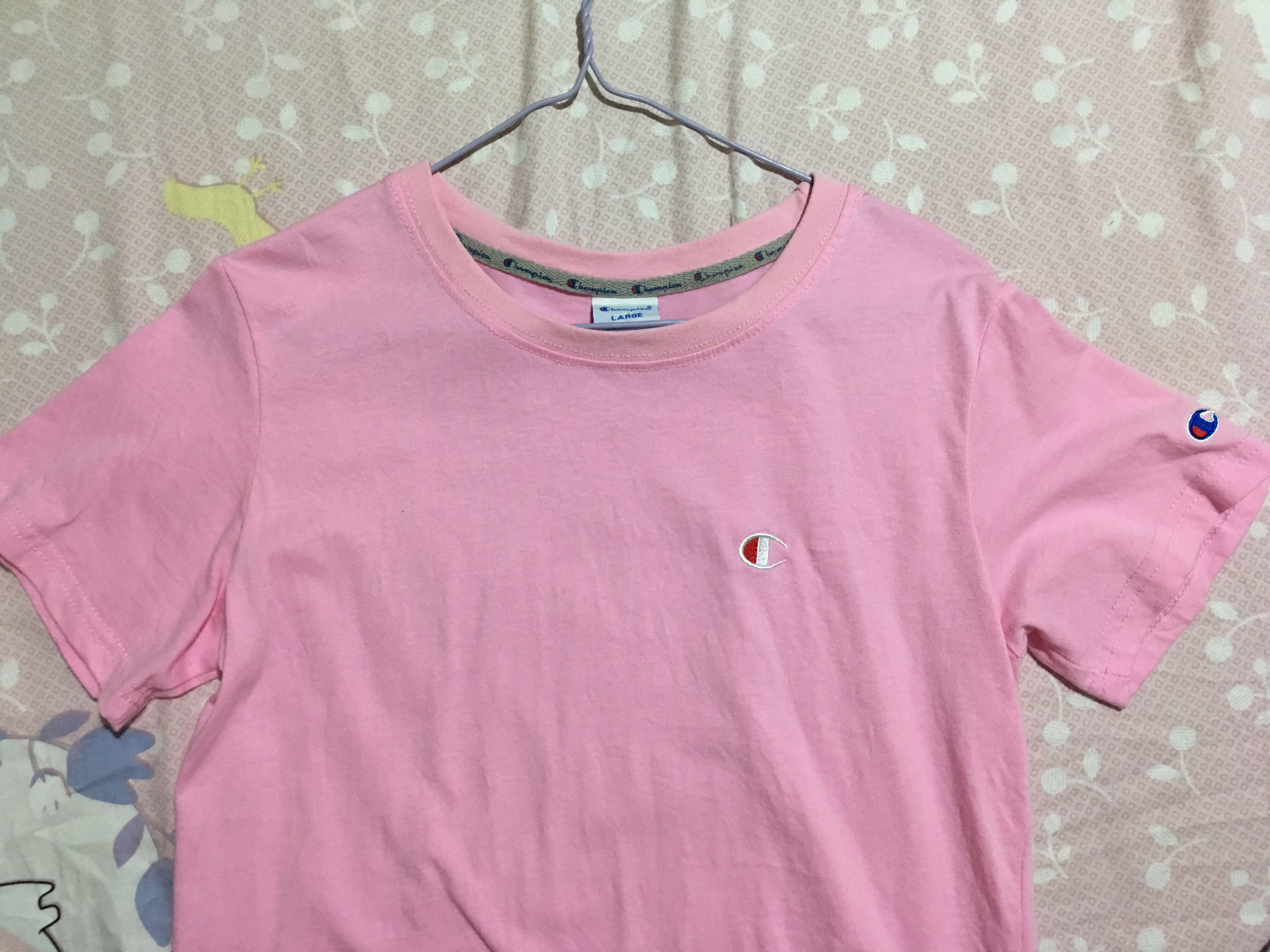 a5f1a119e0ae Champion Pink Shirt, Women's Fashion, Clothes, Tops on Carousell