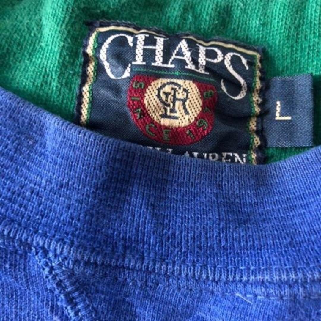 CHAPS by Ralph Lauren Vintage Pullover L Blue Unisex