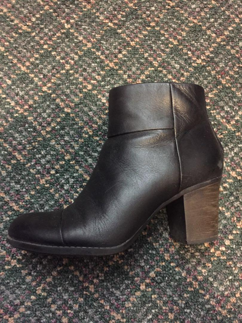 Clarks Black Ankle Boots Size 8