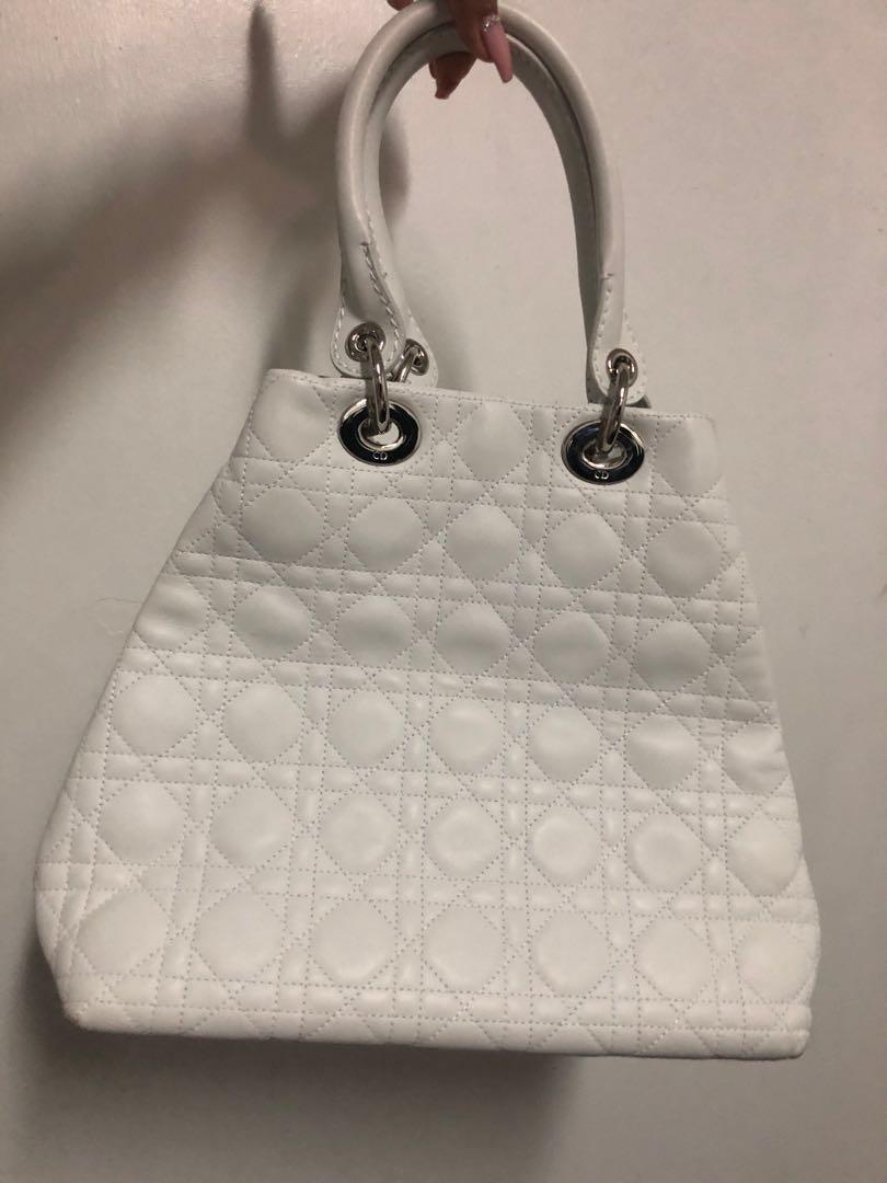 Dior Lady Dior Soft Tote Cannage Quilt Lambskin Medium