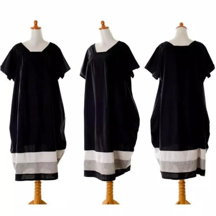 Dress 36015 - Black Big Oversized