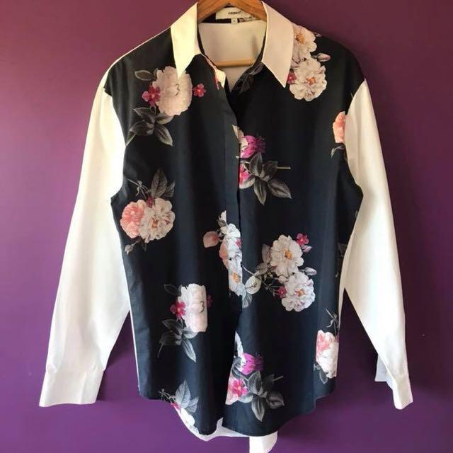Floral Long Sleeve Button Up Shirt