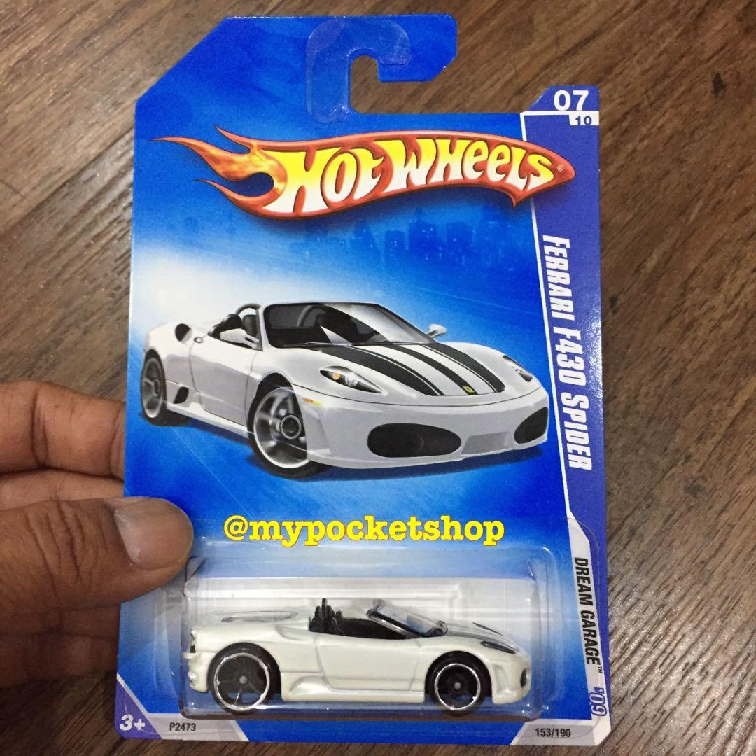 Hot Wheels Ferrari F430 Spider White W No Back Tampo Toys Games Others On Carousell