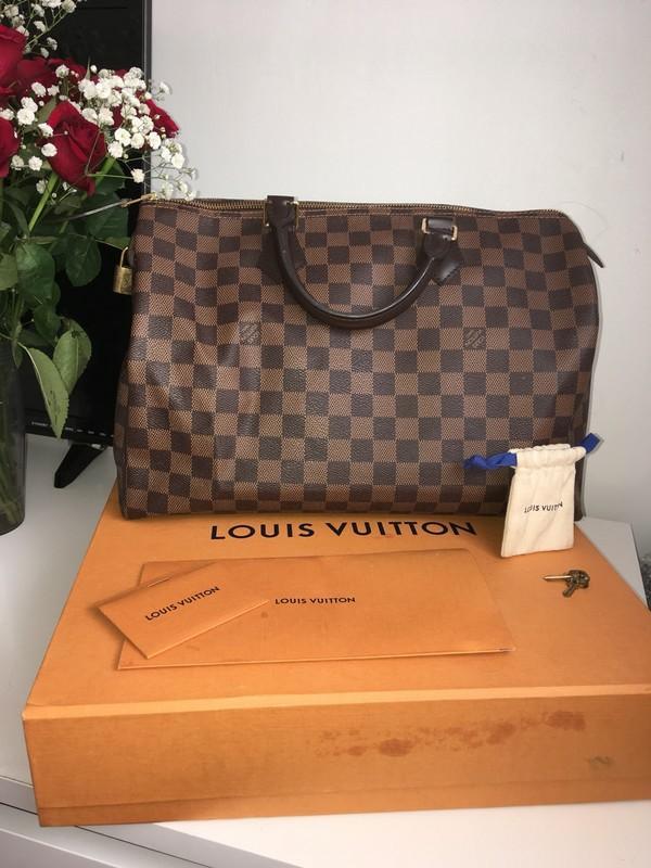 Louis Vuitton Speedy 35 damier ebene bag