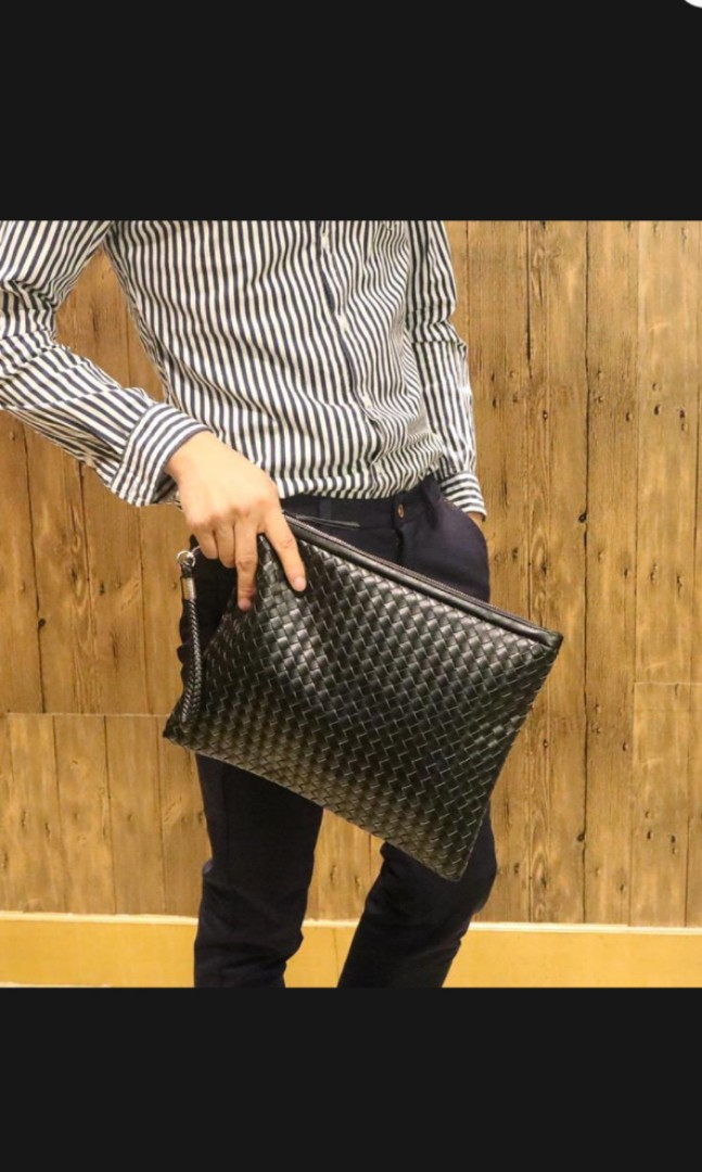 99e9327610803 Men A4 leather document bag., Luxury, Bags & Wallets, Clutches on ...