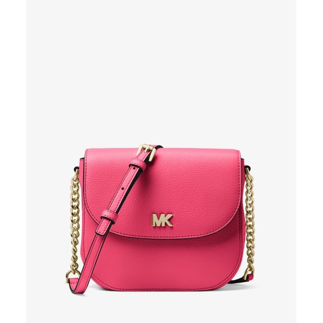 5ea77915f963 Michael Kors Mott Pebbled Leather Dome Crossbody, Women's Fashion ...