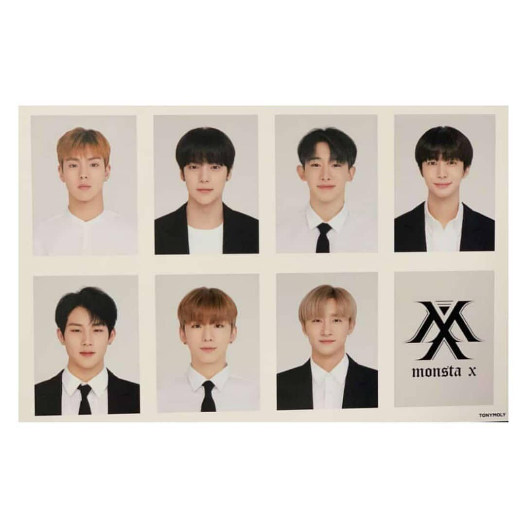 Monsta X  Tony Moly Tone Up Tin Set + all members photo