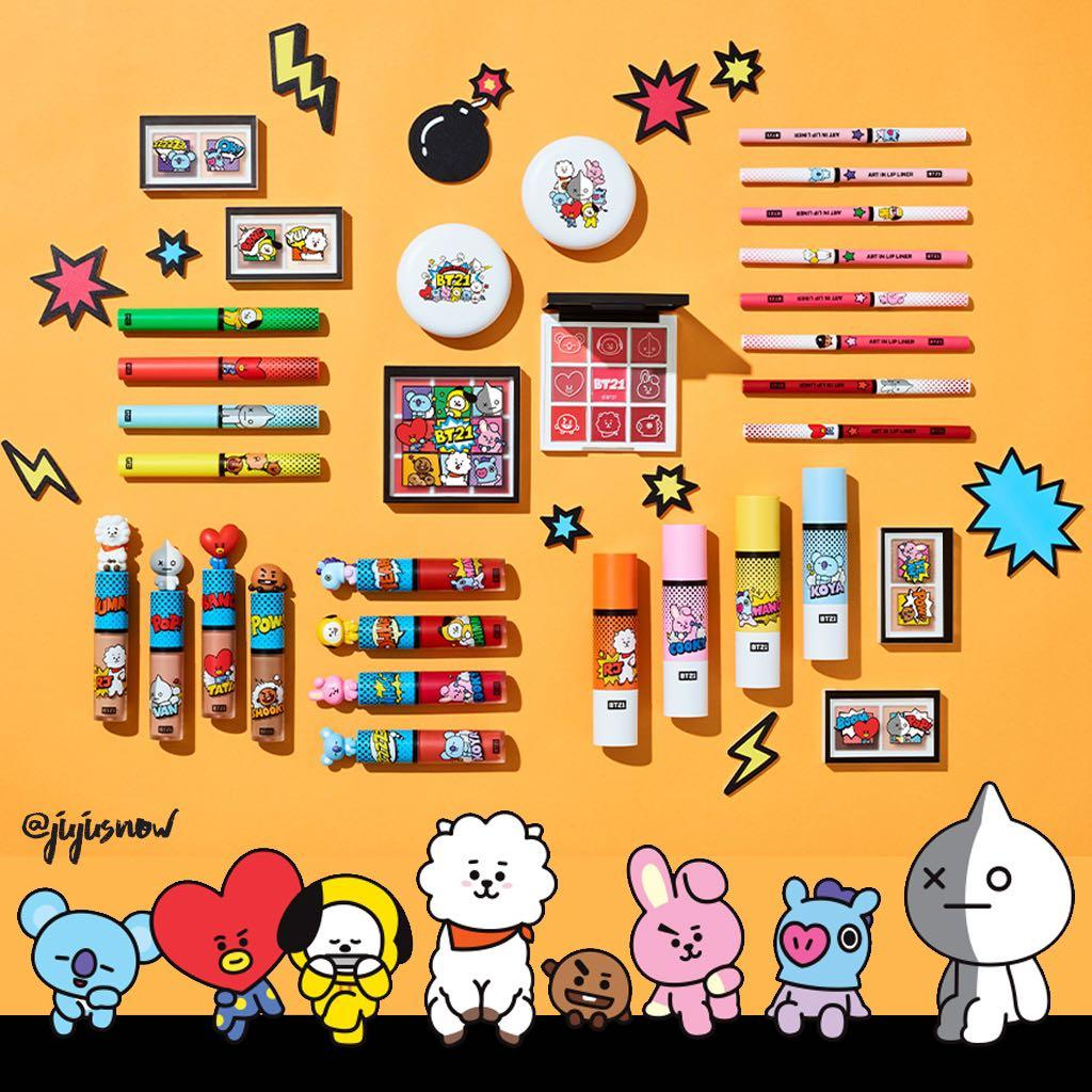 New VT Cosmetics x BT21 🎨 Art In Makeup BTS, Health