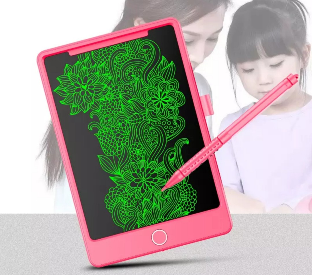 PINk 85 Inch LCD Writing Tablet Kids Learning Birthday Gift
