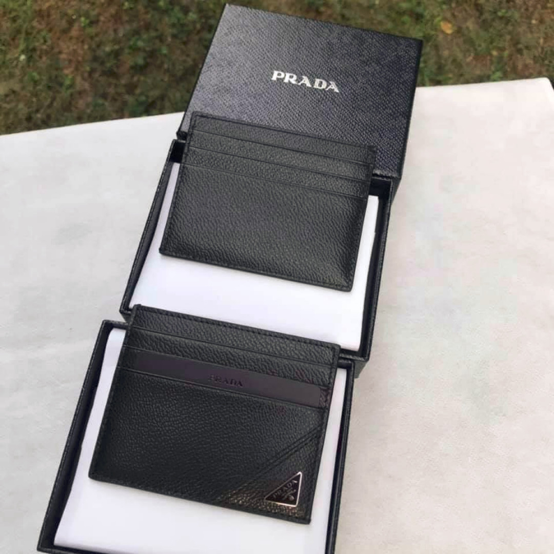 5ec56b43ff52cd Prada 2MC223 Leather Credit Card Holder, Men's Fashion, Bags ...