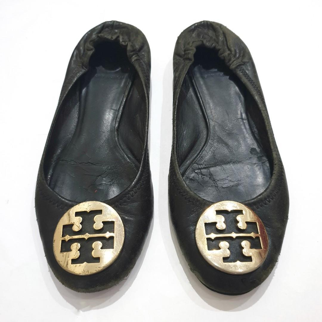 Size39 Tory Burch Classic Flats Black Shoes