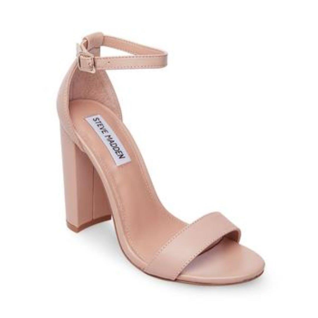 8a589485a04 Steve Madden Carson leather blush pink heeled sandals EU38 UK5 ...