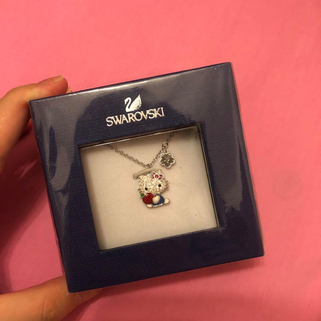 7738e5ad1 SWAROVSKI Hello Kitty Red Apple Pendant, Women's Fashion, Jewellery ...
