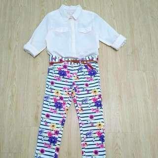 Zara top/h&m pants (7t)