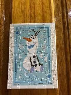 🚚 迪士尼冰雪奇緣-雪寶拼圖