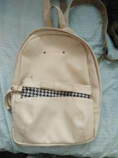 Cream Colored backpack