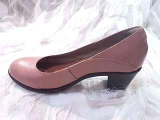Hush puppies pink block heels real leather