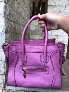 Soft purple sling bag