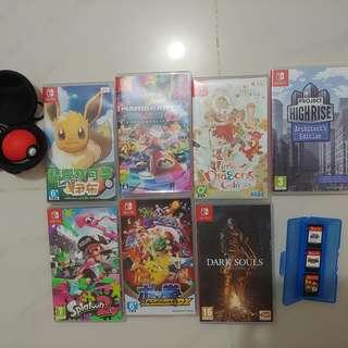 放 10隻switch games