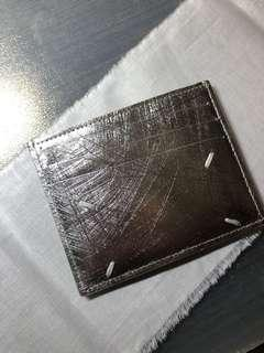 Maison Margiela 11 Scatched Metallic Card Holder mmm mm11