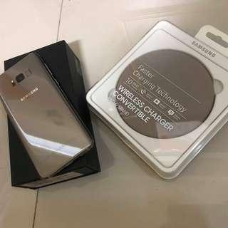 🚚 【可貼換】三星S8+ 64G 9成新 64G 配件齊全 無烙印 功能正常+原廠三星充電板