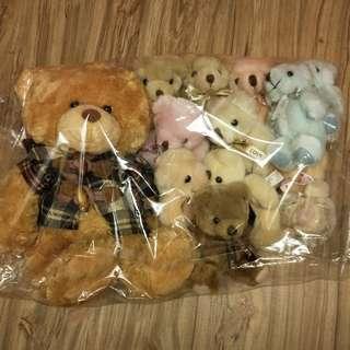 1大10小熊娃娃