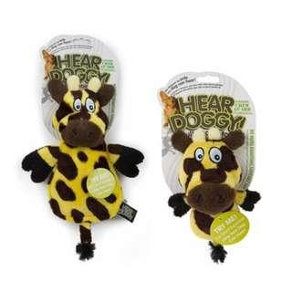 🚚 Authentic BN Hear Doggy - Flats Yellow Giraffe with Chew Guard