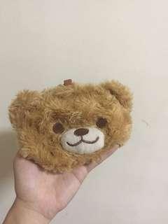 🚚 小熊造型絨毛錢包