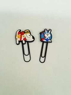 🚚 Cute Animal Paper clips / bookmarks 🐶🐰📎