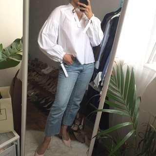 NEW Editor's Market White Puffy Blouse Shirt