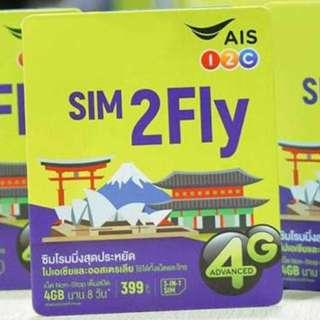 8 Days Japan/Korea/China Data Sim Card Unlimited Data - 1st 4GB 4G