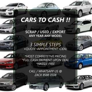 SCRAP / EXPORT / USED CAR WANTED
