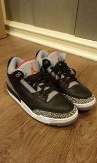 Nike Air Jordan 3 Black Cement AUTHENTIC 100%