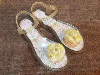 Chanel Camellia Jelly Sandals size 36