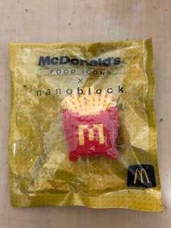 Nano block x MacDonalds  麥當勞 薯條🍟 全新未拆